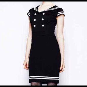 Hell Bunny | Vixen Sailor Pinup Dress sz XL